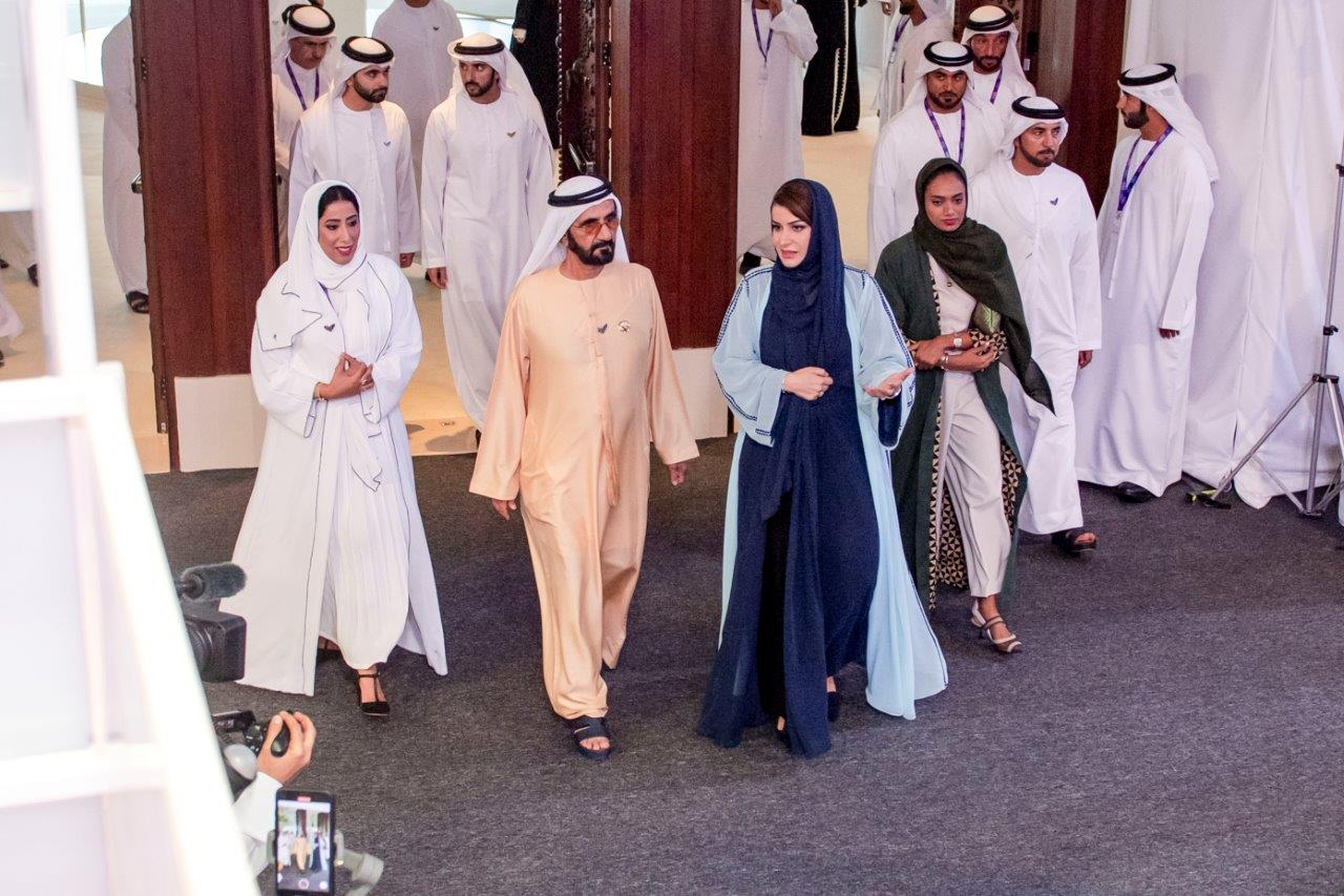 Mohammed bin Rashid tours Global Women's Forum Dubai 2020