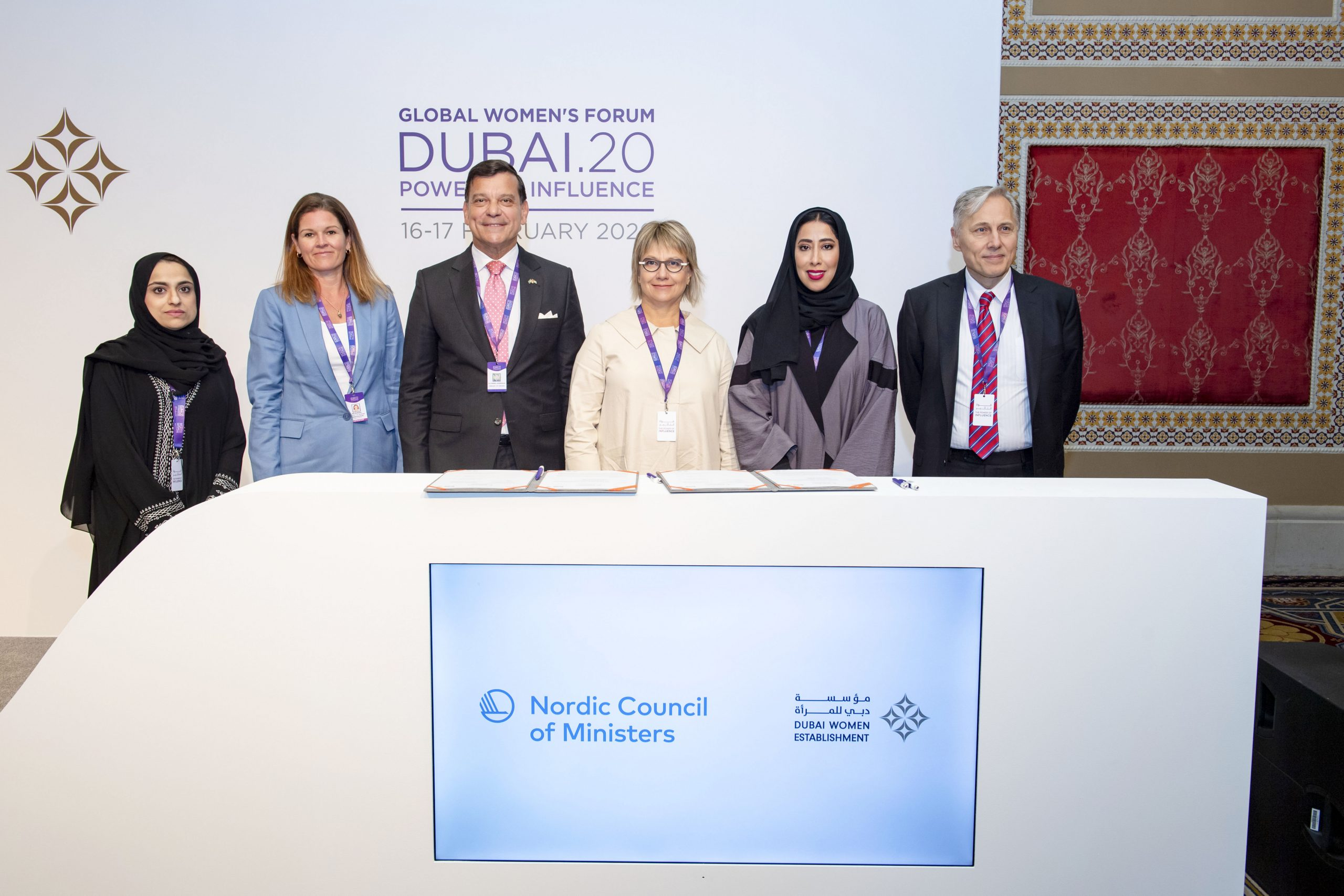 DWE and Nordic Embassies in UAE sign MoU to launch 'YES!' mentorship scheme at GWFD 2020