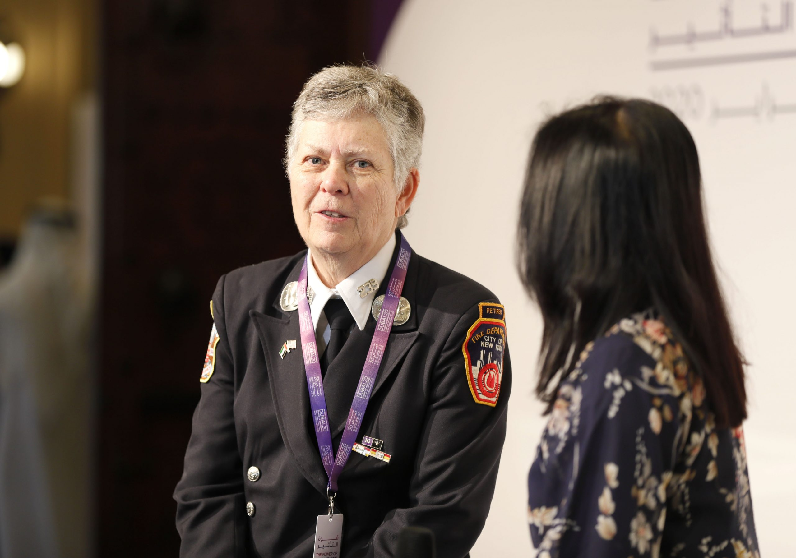 Trailblazing firefighter Brenda Berkman shares her game-changing journey at Global Women's Forum Dubai 2020