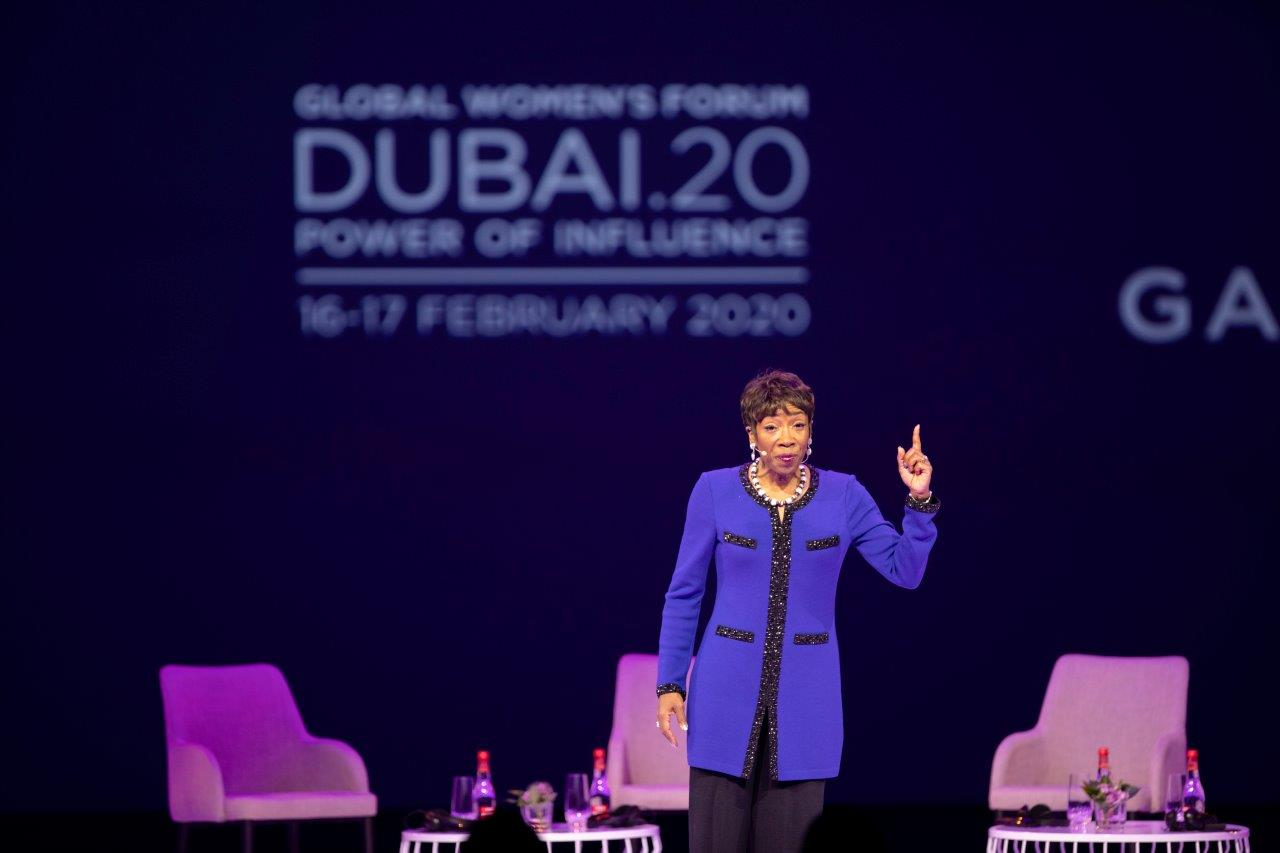 Carla Harris leads inspiring session on intentional leadership at Global Women's Forum Dubai 2020