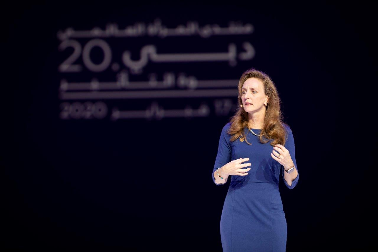 Laura Lane champions the power of women during her address at Global Women's Forum Dubai 2020