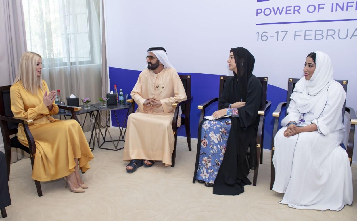 Mohammed bin Rashid receives Ivanka Trump at GWFD 2020